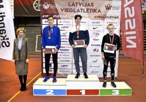Latvijas čempionātā vieglatlētikā telpās jūrmalniekiem izcili panākumi!