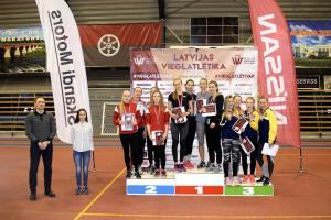 Jūrmalas komanda 1.vieta stafetē LčU18